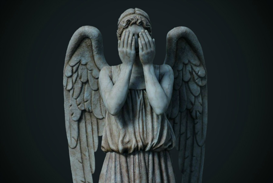 A Weeping Angel, the inspiration for MI5's hacking program.