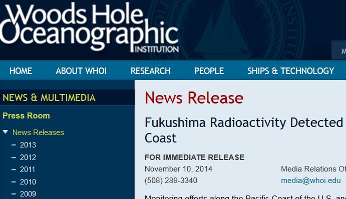 NEWS BRIEF: Radiaton found off the coast of California