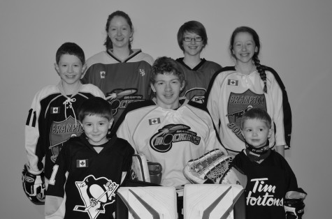 Kaitlyn and her six siblings all play team hockey