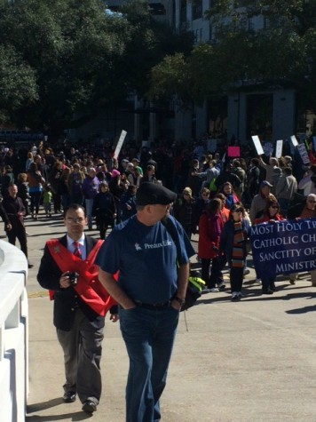 Over three thousand people were marching on LSU campus.