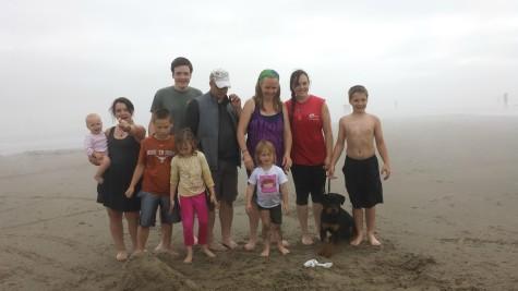 rev tasha family at beach