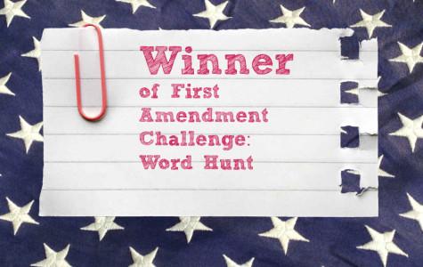 First Amendment Word Hunt: Winner!