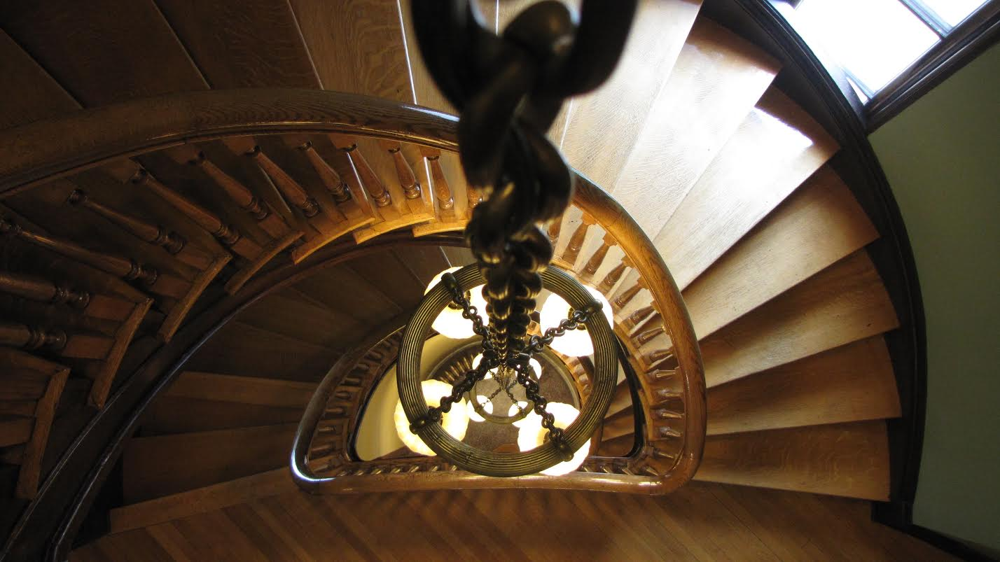 Staircase in a library in Port Royal, VA. Canon Power Shot.