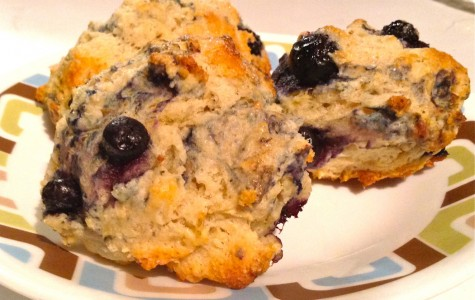 Lemon-Basil Blueberry Scones