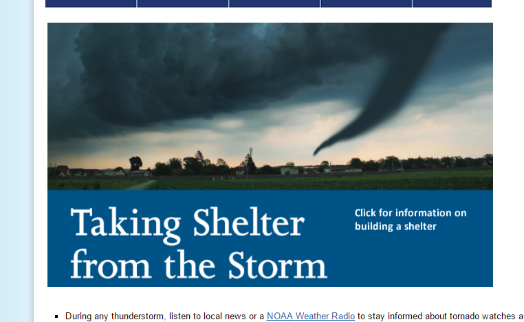 how to prepare for a tornado We offer information on how to prepare for a tornado including a wide range of emergency survival products.