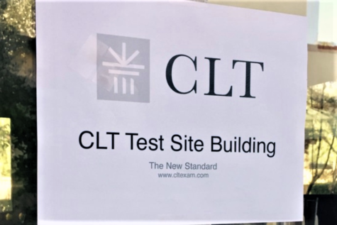 Mother of Divine Grace School in Ojai, California, is an approved test site building for the CLT test. Stephanie Sebastian administrates the test to the students.