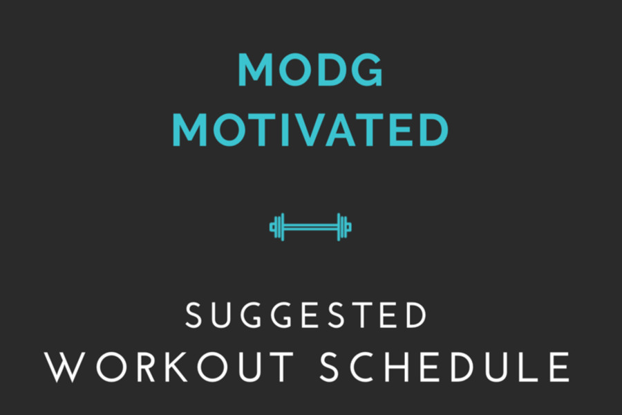 Suggested Workout Schedule