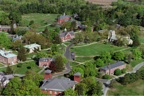 An aerial view of the New England campus. Photo courtesy of Mount Hermon School.