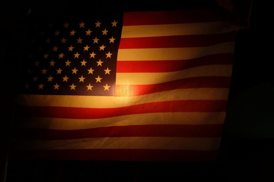 The American flag, a symbol which some Americans have deemed too controversial.