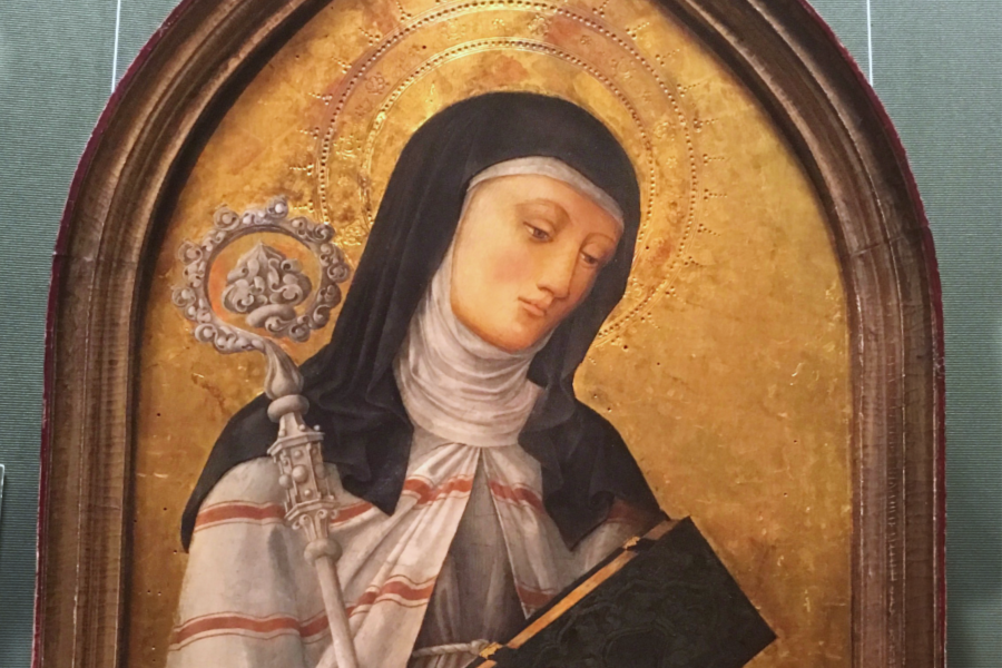 An icon of Saint Clare in the Kunsthistorisches Museum in Vienna, Austria.