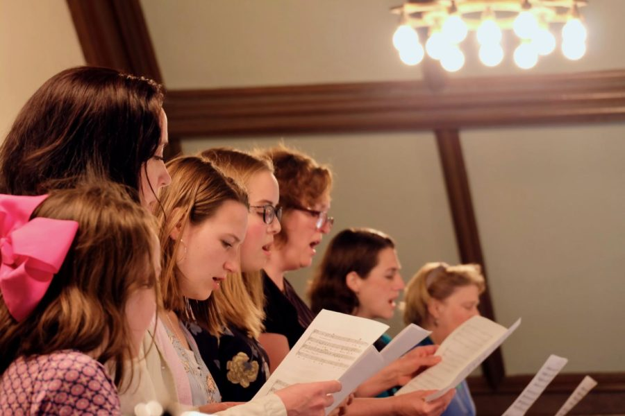 The choir, directed by Stephen Grimm.