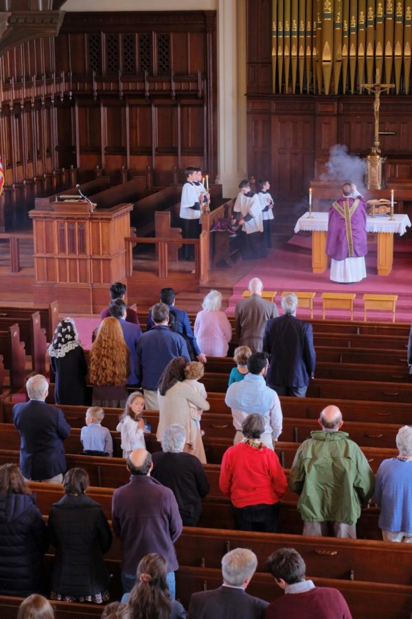 The open house began with a Mass at Sage Chapel.