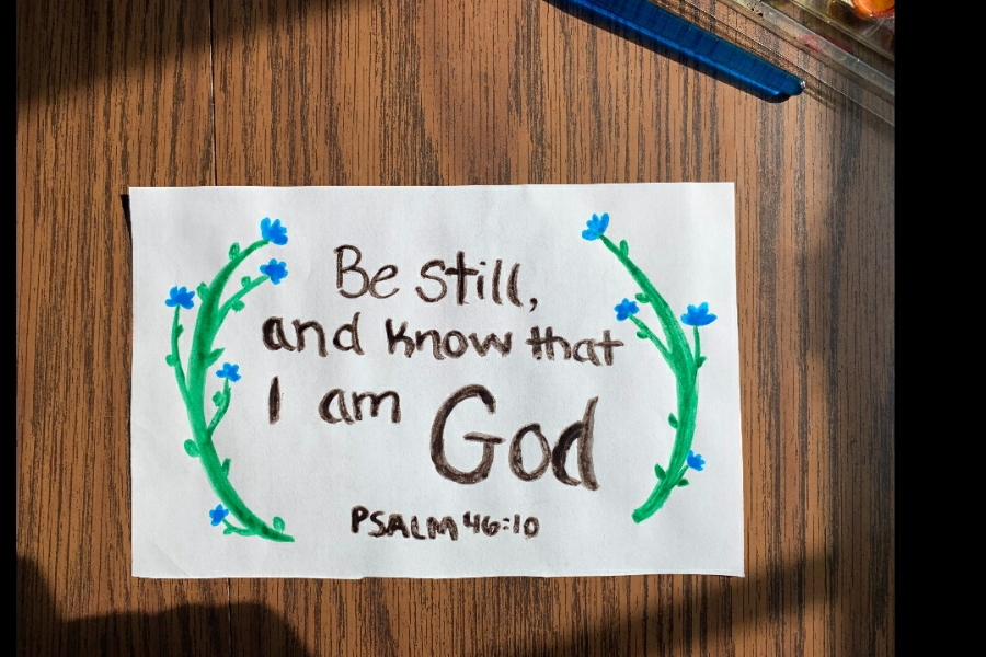 Crafting scriptural reminders and placing them in your home is a helpful way to stay positive!