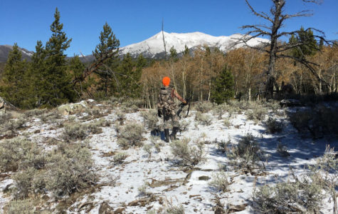 Dominic Yates hunting in the mountains.