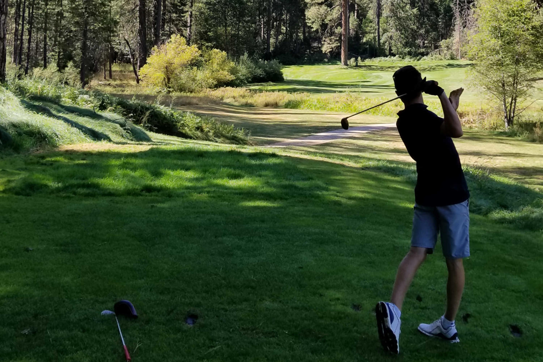 MODG student golfer Jacob Croix