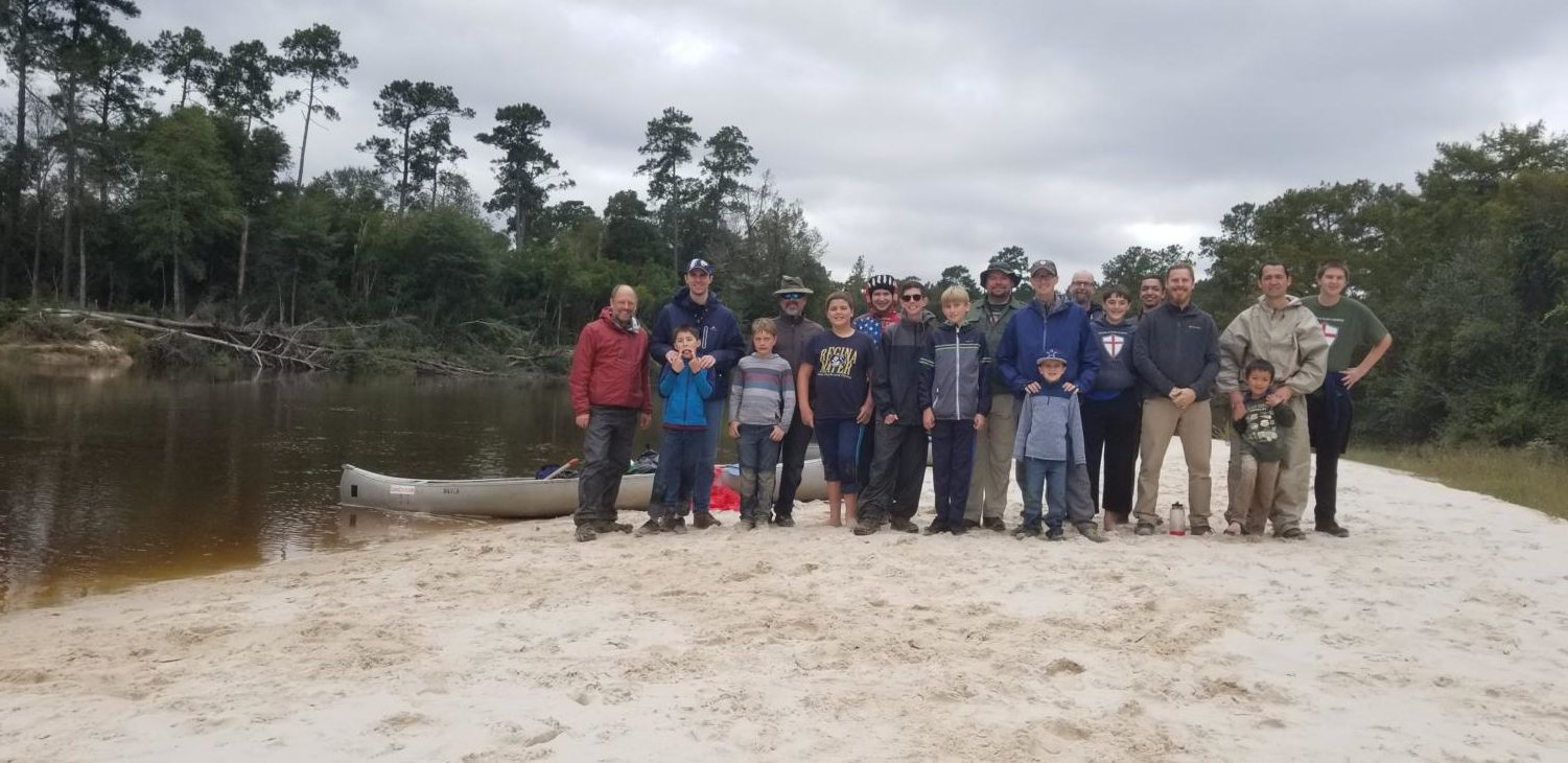 TSG group picture at a sand bank along Village Creek ,TX.