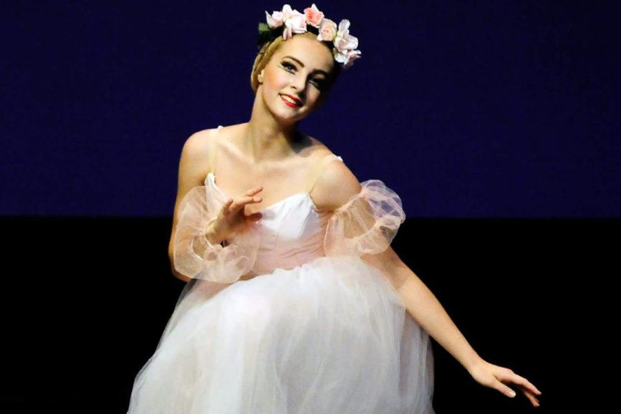 Emmanuelle Watkins in the ballet Pas de Quatre.