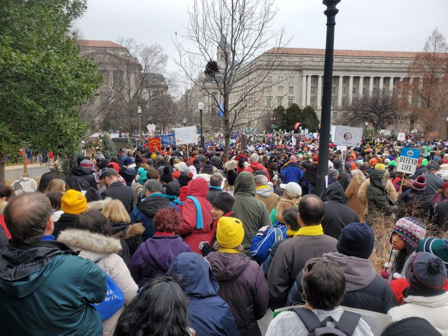 Marchers in the March for Life 2020 in Washington, D.C.