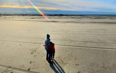 Garrett took this picture of his father, Shawn, and younger brother, Luke, on Brigantine Island, New Jersey.