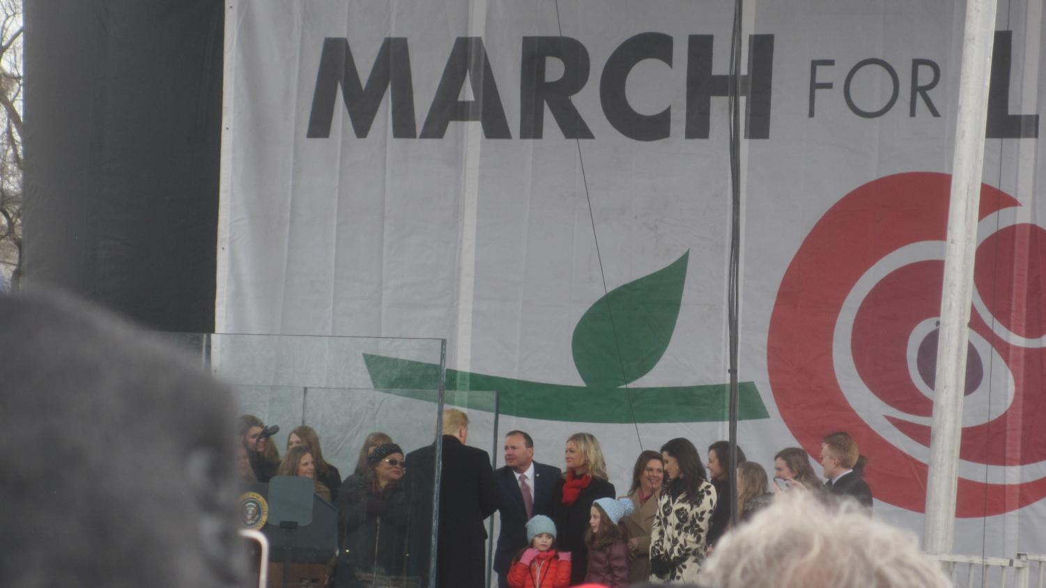 President Trump is the first US president to address the March for Life in person in Washington, D.C.