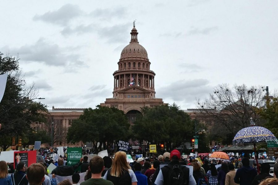 Rally for Life in Austin, Texas on January 25, 2020. I could not see the end of people behind me or in front of me.