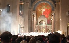 Basilica of the Immaculate Conception in Washington D.C. during the March for Life weekend.