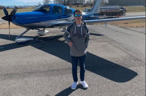 MODG Junior Jacob Croix is working to get his pilot