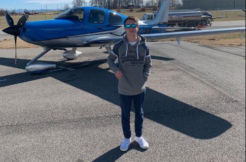 MODG Junior Jacob Croix is working to get his pilot's license.