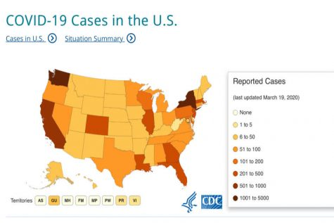 Image from www.cdc.gov. This map was last update March 19, 2020.