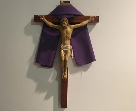 A Catholic crucifix is a good focal point during Lent.