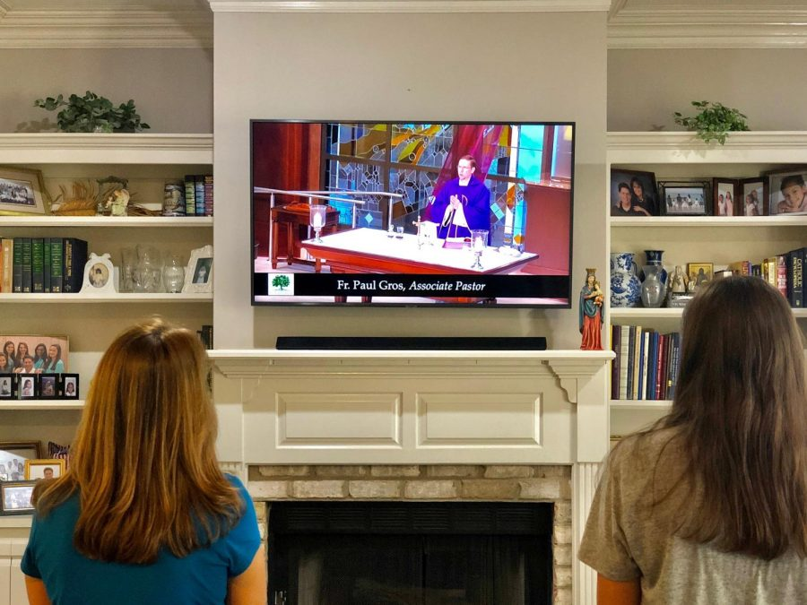 Public masses are now unavailable, but families are still able to watch livestreams of it on YouTube.