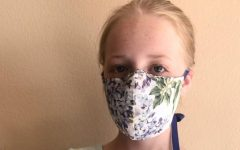 MODG student Lena wears a mask. Masks are required in CA in stores and enclosed places.