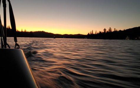Sunset cruise at Bass Lake