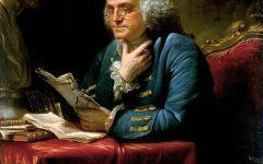 A portrait of Benjamin Franklin by David Martin.