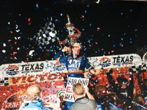 Another picture from his victory in TX